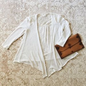 Urban Outfitters white and cream lace sweater